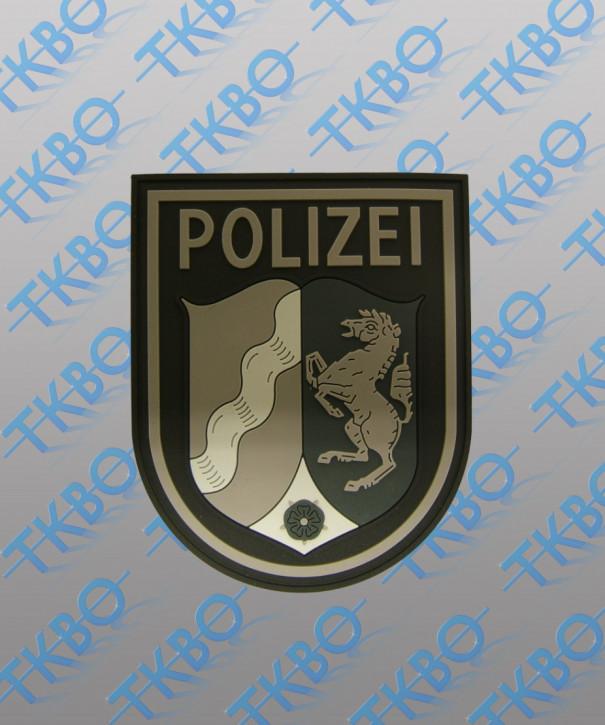 Polizeiabzeichen NRW - Rubber - mit Klett