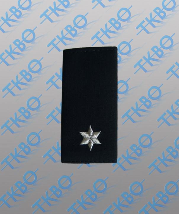 Schulterschlaufen - 1 Stern silber - Lurexfaden