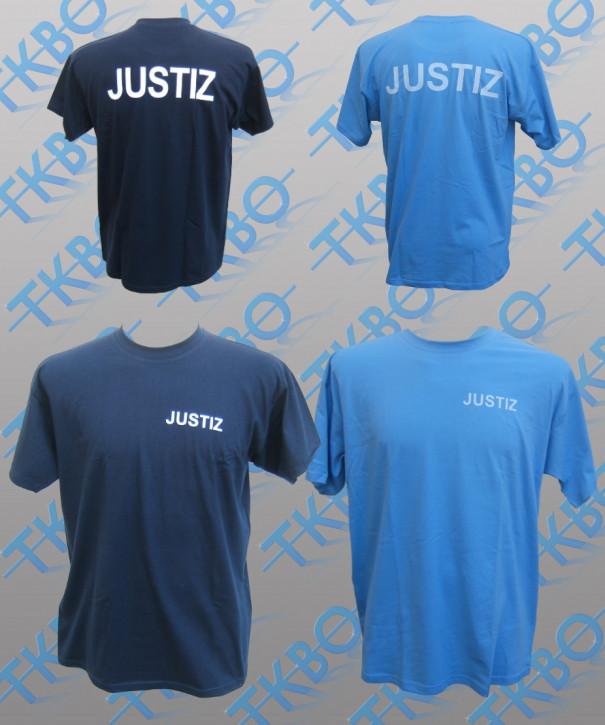 T-Shirt mit Justiz-Aufdruck S / Navy