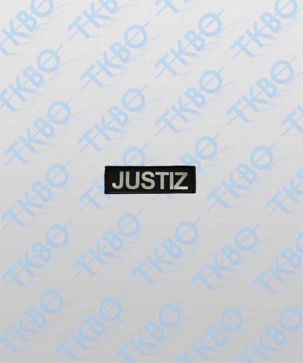 """Brustschild """"JUSTIZ"""" 10 cm x 3 cm"""