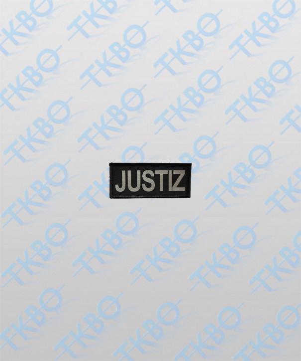 """Brustschild """"JUSTIZ"""" 9 cm x 4 cm"""