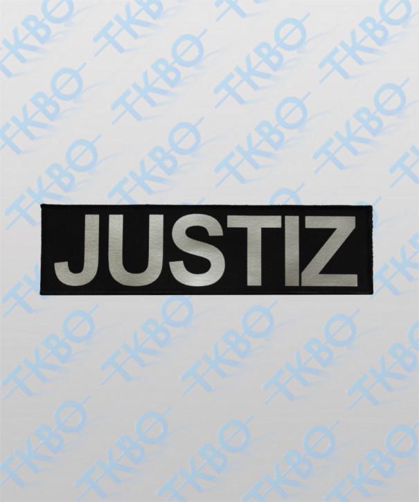 "Rückenschild ""JUSTIZ"" 29 cm x 8 cm"