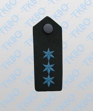 Schulterklappen mit 3 Sterne blau