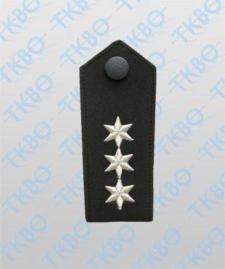 Schulterklappen mit 3 Sterne silber