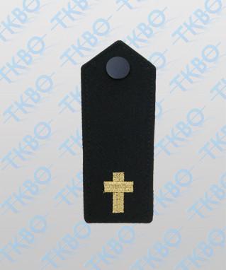 Schulterklappen mit goldenem Kreuz