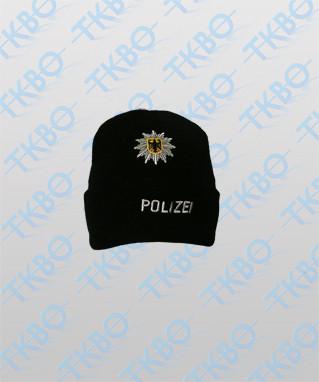 Fleece Mütze mit Einstickung Bundespolizei