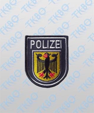 Abzeichen Bundespolizei gestickt mit Klett