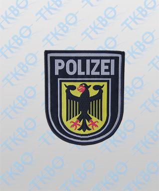 Abzeichen Bundespolizei gewebt mit Klett
