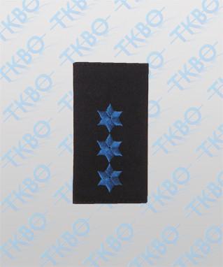 Schulterschlaufen mit 3 Sterne blau