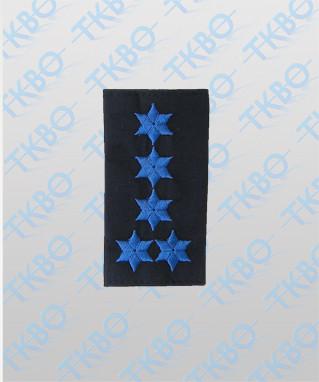 Schulterschlaufen mit 5 Sterne blau