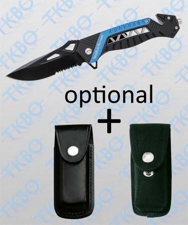 "Rettungsmesser ""Smith&Wesson"" schwarz/blau"