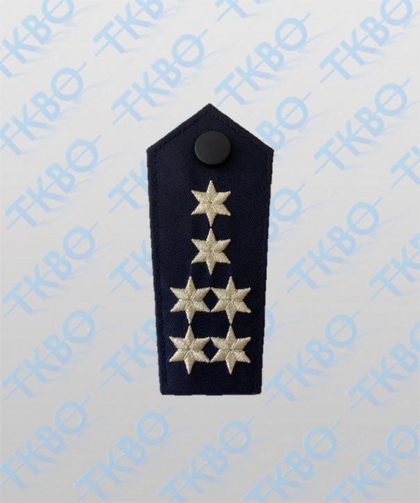 Schulterklappen mit 6 Sternen silber