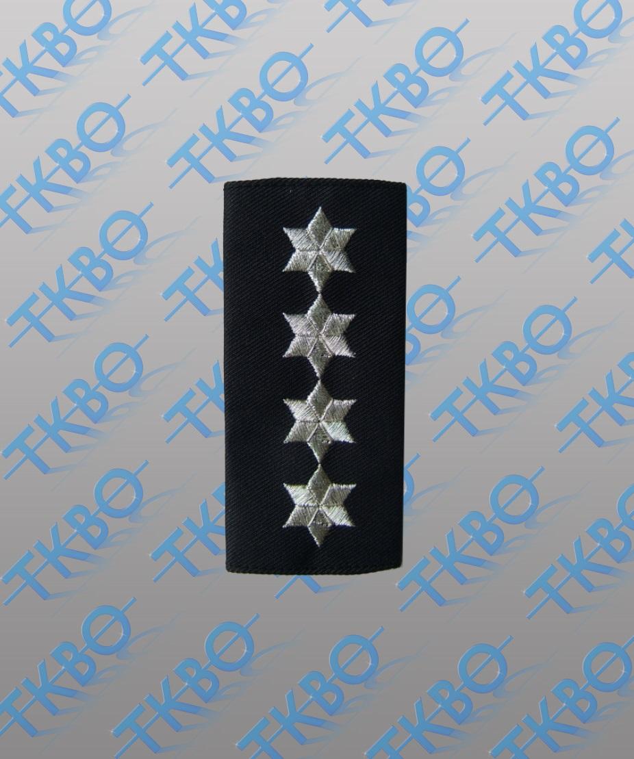 Schulterschlaufen 4 Sterne silber