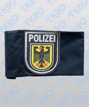 Armbinde blau mit Abzeichen Bundespolizei