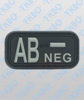 Rubber - 3D Blutgruppenpatch AB Positiv