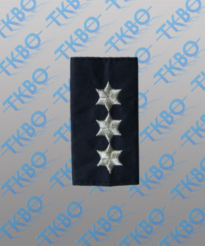 Schulterschlaufen - 3 Sterne silber - Lurexfaden
