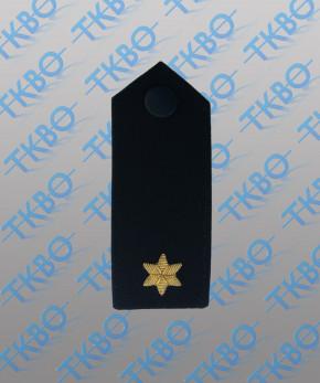 Schulterklappen mit 1 Stern gold -Handgestickt-