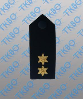 Schulterklappen mit 2 Sternen gold -Handgestickt-