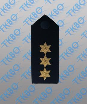 Schulterklappen mit 3 Sternen gold -Handgestickt-