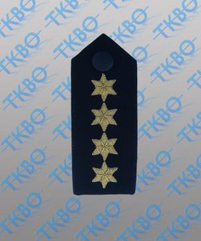 Schulterklappen mit 4 Sternen gold -Handgestickt-
