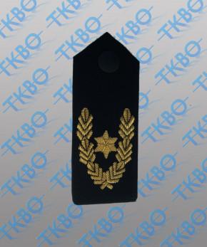 Schulterklappen mit 1 Stern gold + Eichenlaub -Handgestickt-