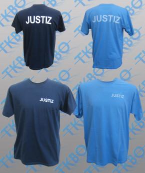 T-Shirt mit Justiz-Aufdruck 3XL / Navy