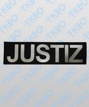 "Rückenschild ""JUSTIZ"" 32 cm x 10 cm"