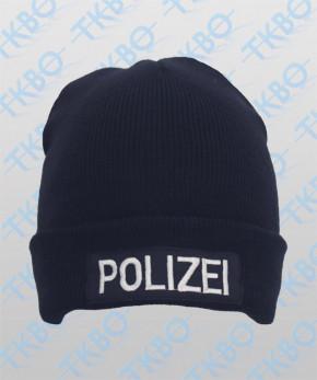 """Rollmütze mit Aufnäher """"POLIZEI"""""""