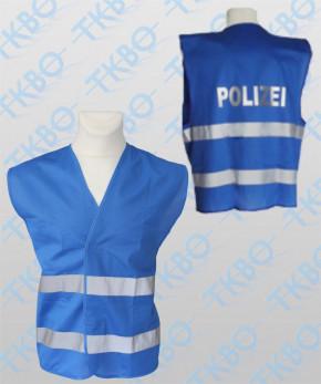 """Warnweste blau mit Druck """"POLIZEI"""""""