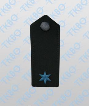 Schulterklappen mit 1 Stern blau
