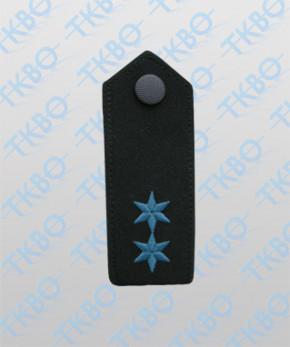 Schulterklappen mit 2 Sterne blau