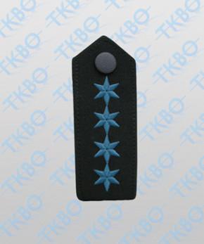 Schulterklappen mit 4 Sterne blau