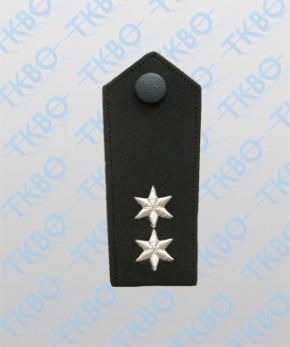 Schulterklappen mit 2 Sterne silber