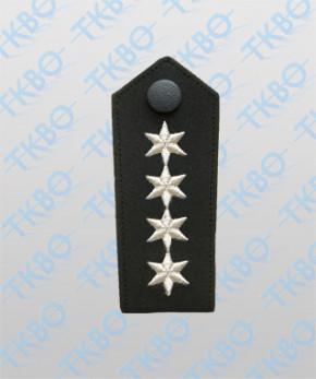 Schulterklappen mit 4 Stern silber