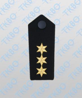 Schulterklappen mit 3 Sterne gold