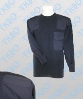 Strickpullover mit Schulterklappe