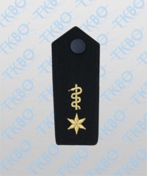 Schulterklappen mit Äskulapschlange + 1 Stern gold