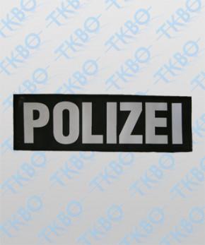 """Rückenschild """"POLIZEI"""" aus Leder"""