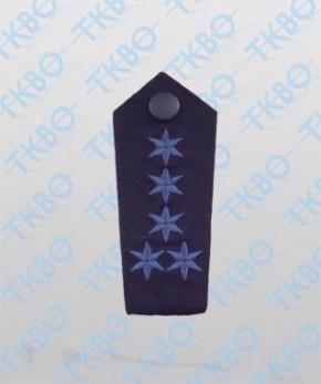 Schulterklappen mit 5 Sterne blau