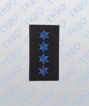 Schulterschlaufen mit 4 Sterne blau