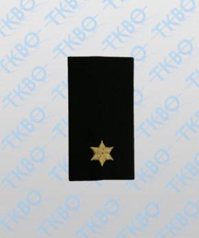 Schulterschlaufen mit 1 Stern gold
