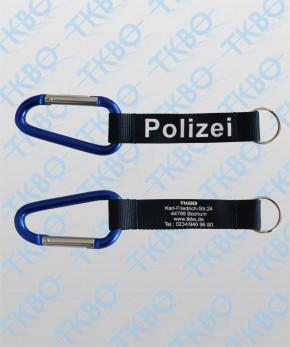 """Karabiner-Schlüsselanhänger """"Polizei"""""""
