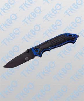 """Einhandmesser """"PUMA TEC"""" schwarz/blau"""