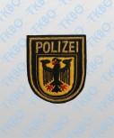 Abzeichen Bundespolizei handgestickt - gold